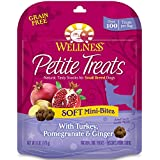 Wellness Petite Treats Small Breed Soft Natural Grain Free Dog Treats, Turkey & Pomegranate, 6-Ounce Bag