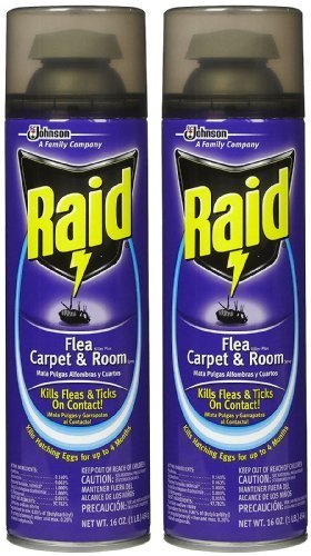 Raid Flea Killer Carpet & Room Spray, 16 OZ (Pack - 2) (Carpet Cleaner With Flea Killer)