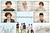 1/4 Sheet ~ One Direction Frames Birthday ~ Edible Image Cake/Cupcake Topper!!!