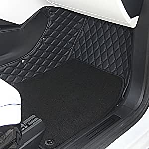 topfit customized a whole set car floor mat for tesla model x 7 seat black. Black Bedroom Furniture Sets. Home Design Ideas
