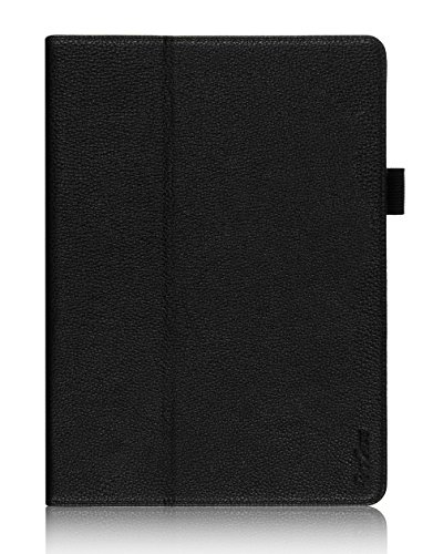 ProCase Samsung Galaxy Tab S 10.5 Case - Bi-Fold Flip Stand Cover Case exclusive for 2014 Galaxy Tab S Tablet (10.5 inch, SM-T800), with Hand Strap, auto Sleep/Wake (Black)