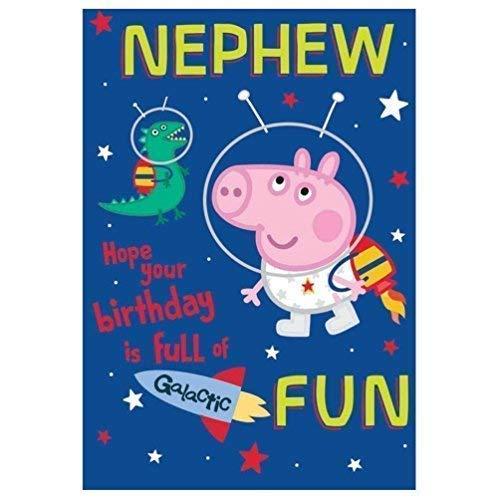 Peppa Pig Nephew Tarjeta Cumpleaños: Amazon.es: Juguetes y ...