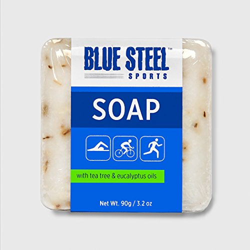 Blue Steel Sports BODY SOAP with Tea Tree and Eucalyptus Oils - DUO Pack (2 medium soaps per pack)