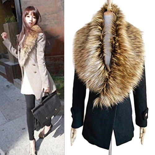 DZT1968® Women Faux Fox Fur Collar Scarf Shawl Collar Wrap Scarves (C)