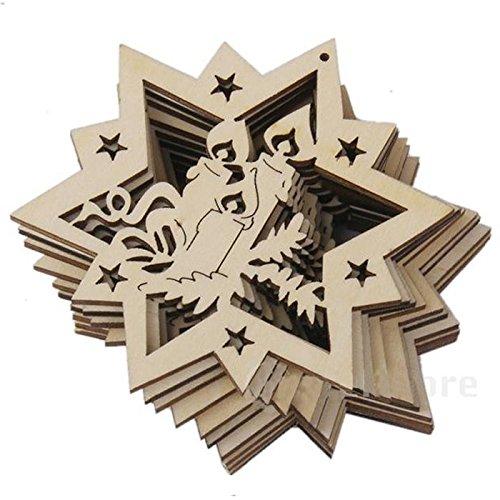 TOOGOO(R) Charms in legno di piccole catene di Natale