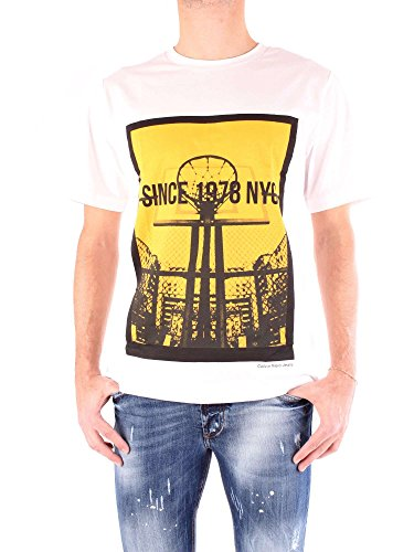 Bianco Klein T shirt Uomo Calvin J30j306894 Tvn6qXw