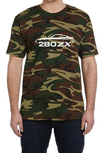 Camo Tee Outline - Nissan Datsun 280ZX Classic Outline Design Tshirt 3XL camo