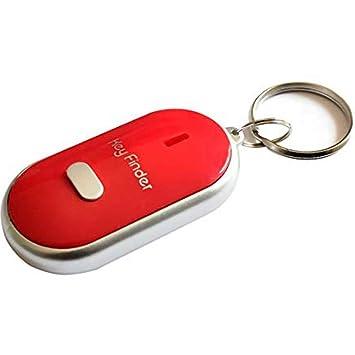 PoeHXtyy - Llavero localizador de llavero con luz LED para encontrar las llaves perdidas, rosso