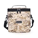 Cooler Insulated Bag , KINGSWELL I7603 Insulated Lunch Box Tote Bag [Unisex Lunch Cooler Bags] For Camping, Work Men, With Detachable Shoulder Strap 8.5Hx5.7Wx8L Inches (Insulated Bag, Desert Camo)
