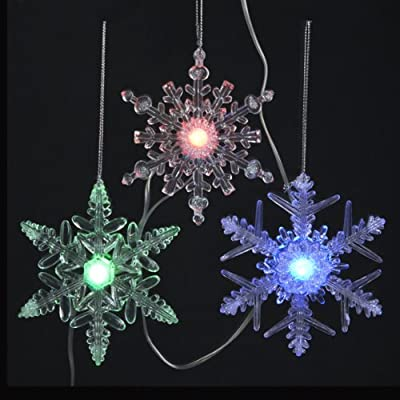 20 Battery Operated Musical Multi-Colored Twinkle LED Snowflake Christmas Lights