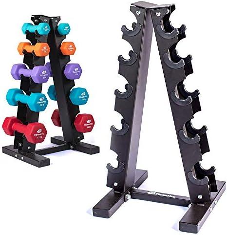 soporte de almacenamiento para mancuernas compacto y duradero negro No nulo para el hogar oficina Soporte para mancuernas gimnasio y ejercicio Small YYWJ