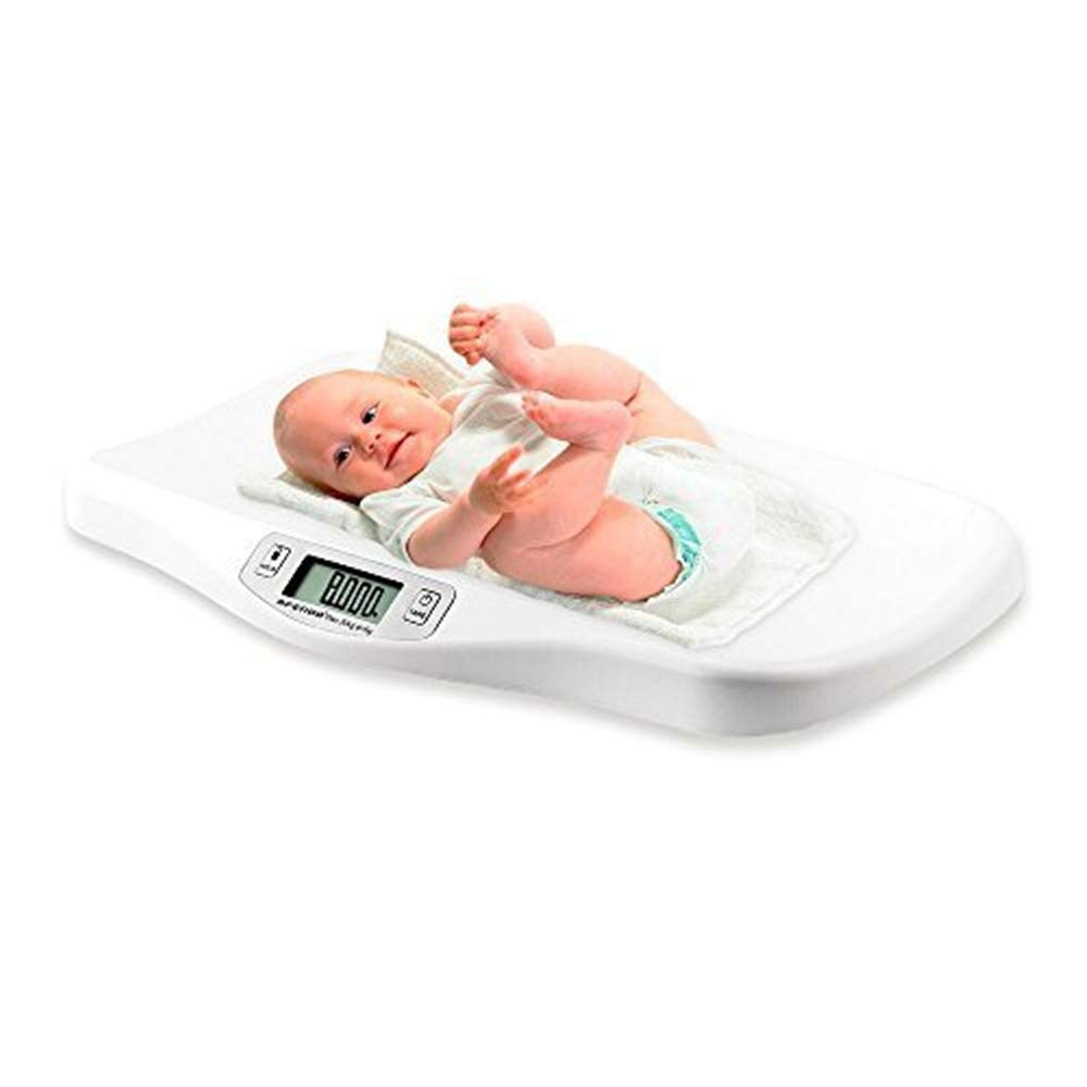 AFENDO Electronic Digital Smoothing Infant , Baby and Toddler Scale -White by AFENDO