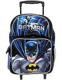 """BATMAN 16"""" Large Roller Backpack Wheels backpack NEW Licensed-36394"""