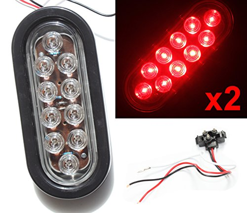 Oval Clear Led Tail Lights in US - 7