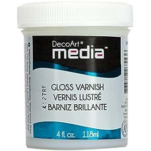 Deco 79 Media Varnish, 4-Ounce, Gloss