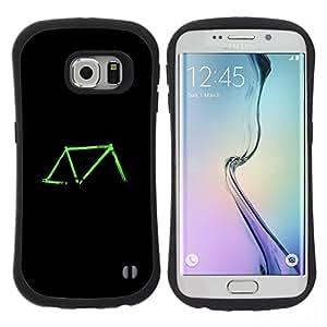 """Pulsar iFace Series Tpu silicona Carcasa Funda Case para Samsung Galaxy S6 EDGE / SM-G925(NOT FOR S6!!!) , Bicicleta verde de neón Negro Ride Retro"""""""