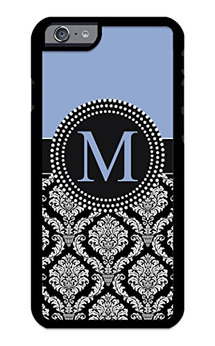 Custom Phone Cases for iPhone 6 Plus, iPhone 6S Plus, iZERCASE [Colorful Damask Initial] Make Your Own Phone Case, Monogram Personalized Case (ICE Blue)