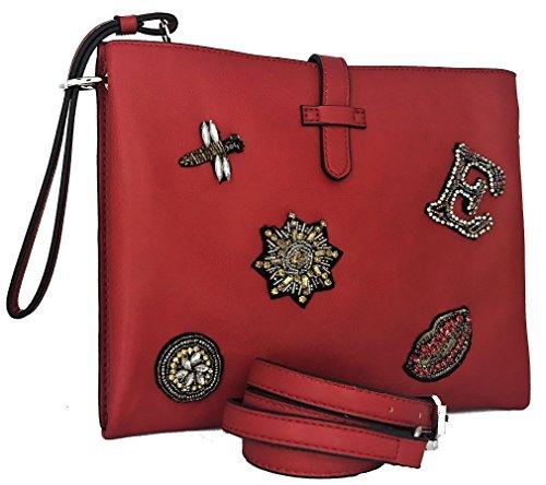 Borsa Borsetta Pochette Rosso Donna Ermanno Scervino Bag Flat Crossbody Woman Red Betty