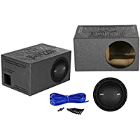 "Polk Audio MM1042DVC 10"" 1200w DVC Car Audio Subwoofer+Vented Sub Box Enclosure"