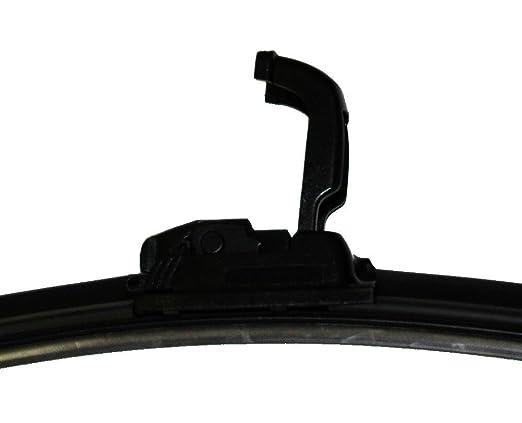 AERZETIX: Juego de 3 escobillas limpiaparabrisas AERO FLAT planos rascadores delanteras y traseras