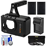 Tehkron CagePro Powered Cage for GoPro HERO3/HERO3+/HERO4 Action Camera with (2) Batteries & Charger + 3 UV/CPL/ND8 Filters + Kit