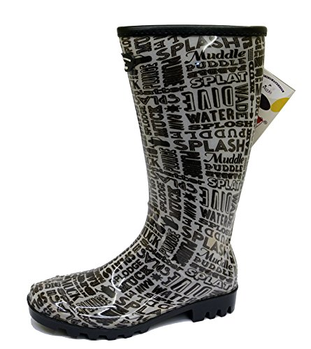 Walking Flat Rain 4 Rubber 8 Calf Wellies Womens Wellington Boots Festival Sizes CqU7Zqw
