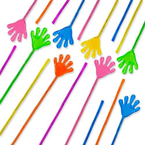 "Super Z Outlet Vinyl Glitter Mini Sticky Hands Toys for Children Party Favors, Birthdays - 1 1/4"" (72 Count)"