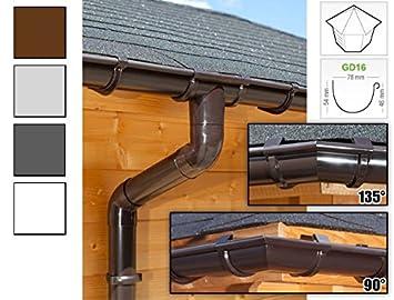 Dachrinnenset In 4 Farben! Fünfeckiges Dach regenrinnen 5 Seiten | Gd16