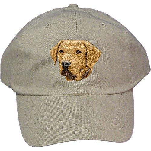 Cherrybrook Dog Breed Embroidered Adams Cotton Twill Caps - Stone - Chesapeake Bay Retriever - Embroidered Chesapeake Bay Retriever