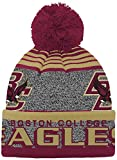 NCAA Boston College Eagles Youth Boys Cuff Knit with Pom Hat, 1-Size, Burgundy