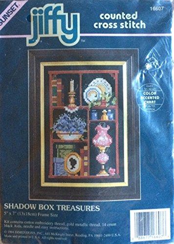Stitch Counted Cross Kit Jiffy (Jiffy Counted Cross Stitch Kit (Shadow Box Treasures))