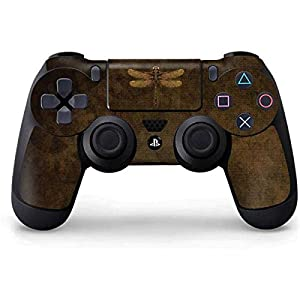 Skinit Decal Gaming Skin for PS4 Controller – Officially Licensed Tate and Co. Steampunk & Gear Dragonfly Design