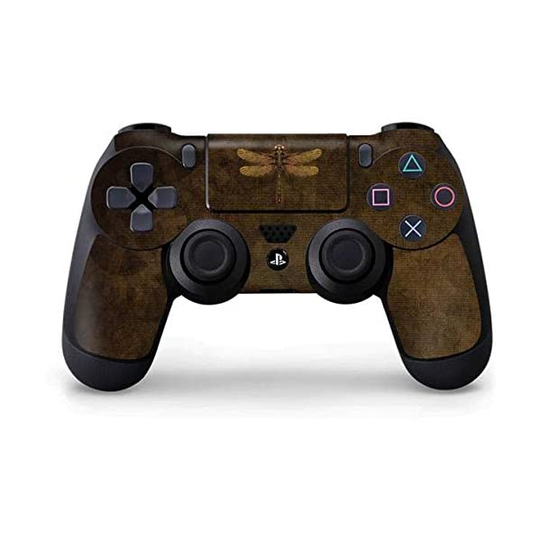 Skinit Decal Gaming Skin for PS4 Controller - Officially Licensed Tate and Co. Steampunk & Gear Dragonfly Design 3