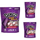 Dingo Goof Balls, Twist Sticks and Mini Bones Dog Rawhide Chew Bundle