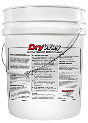 DryWay Water-Repellent Concrete Sealer (5-gal) | Protects Concrete Driveways | Pavers | Garage Floors | Patios | Outdoor Masonry