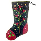 """Beautiful Cardinals on a Tree Holiday Christmas Full Sized Stocking 18"""""""