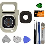 Camera Lens for Samsung Galaxy S7 & S7 Edge (Silver Titanium) with Tool Kit