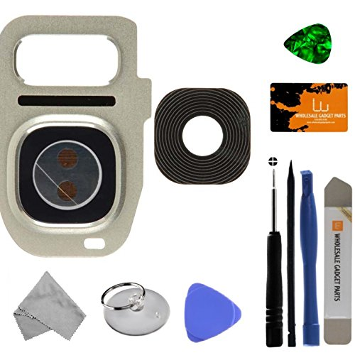 Camera Lens for Samsung Galaxy S7 & S7 Edge (Silver Titanium) with Tool Kit by Wholesale Gadget Parts