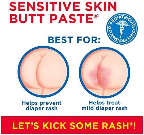 510uad%2BQbVL. AC - Boudreaux's Butt Paste Sensitive Skin Diaper Rash Ointment, 4 Oz Tube, 2 Pack