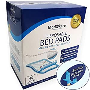 Amazon Com Medokare Disposable Incontinence Bed Pads