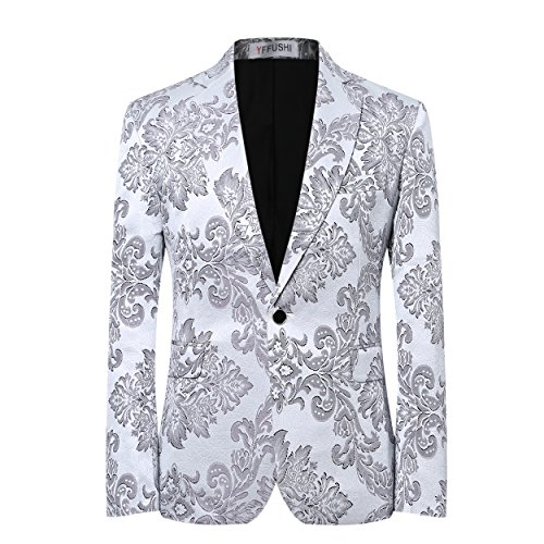 Stylish Button Floral Printed Jacket