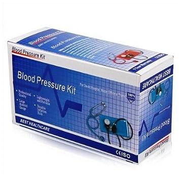 TOOGOO(R) Esfigmomanometro Aneroide / Estetoscopio de Presion Sanguinea / Brazalete de Nylon: Amazon.es: Electrónica