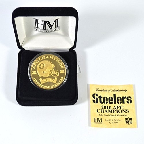 Super Bowl Football Flip Coin - Highmand Mint Super Bowl XLV Gold Plated Replica Flip Coin # out of 10,000