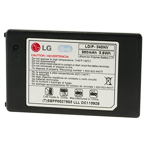 LG LGIP-340NV 950mAh Original OEM Battery for the LG Cosmos VN250 and Octane VN530 - Non-Retail Packaging - Black