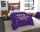 The Northwest Company Officially Licensed NCAA TCU Horned Frogs Modern Take Twin Comforter and Sham