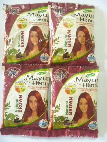 856b7d396 4 X Brown Hair Henna Dye Natural Color Herbal Powder 30g X 4 = 120gm ...