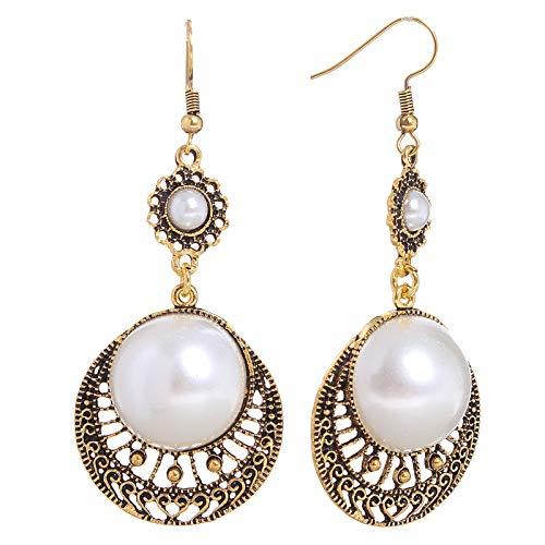 Earrings faux pearls (Bronze)