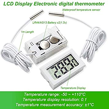 1m Probe Waterproof Electronic Temperature Sensor Digital Thermometer Pyrometer
