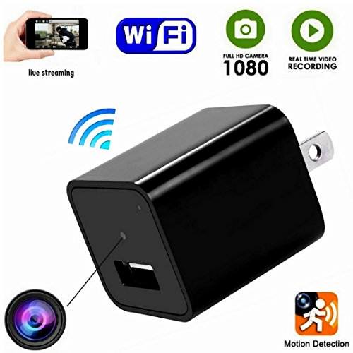 Spy Camera Wireless Hidden -Indoor USB Wall Charger Camera-Nanny Cam-Wifi Hidden Camera-Plug In Camera With Motion Detection -For Home/kids/Pets Security (Eye Cats Adapter)