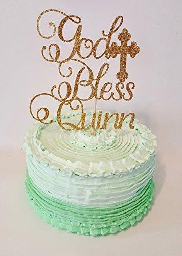 (God Bless Cake topper)